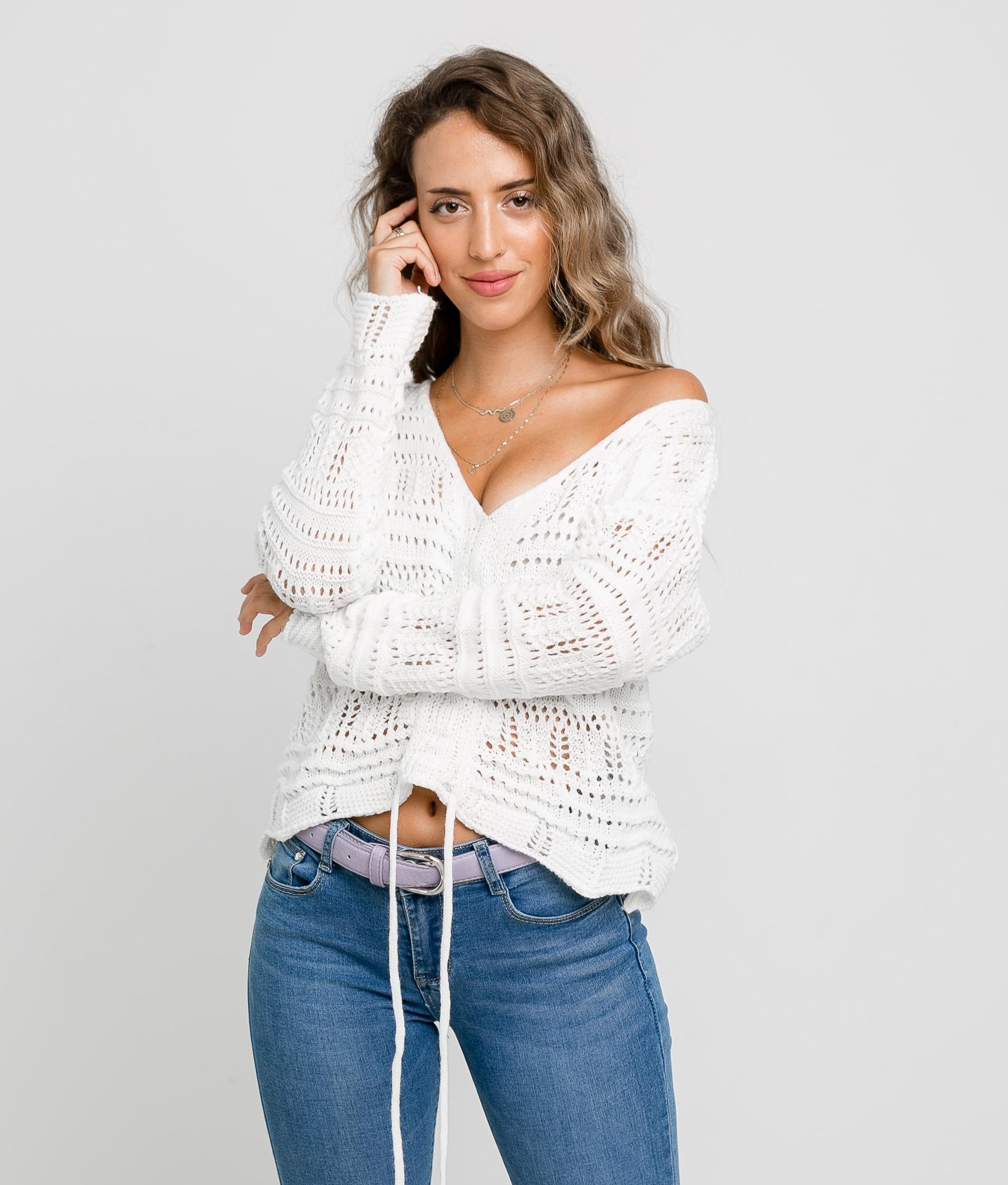 TIRSIA SWEATER - WHITE