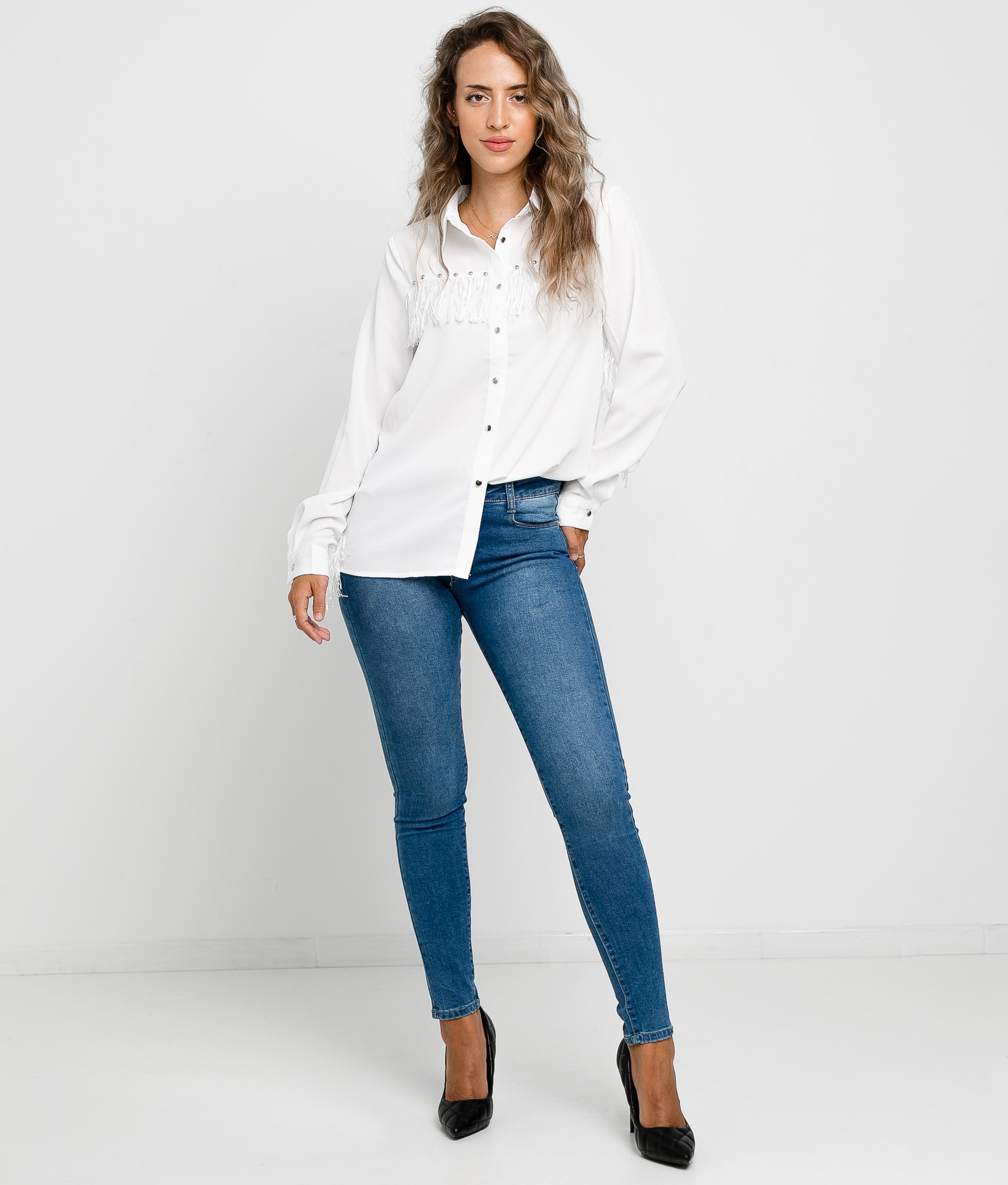 Blouse Pumples - Blanco