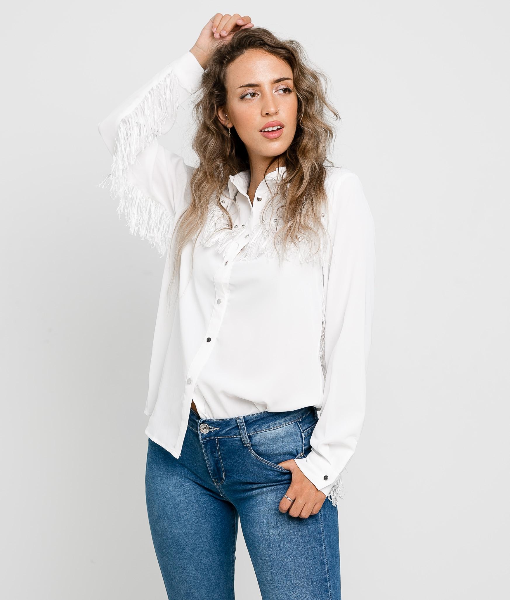 Blusa Pumples - Blanco