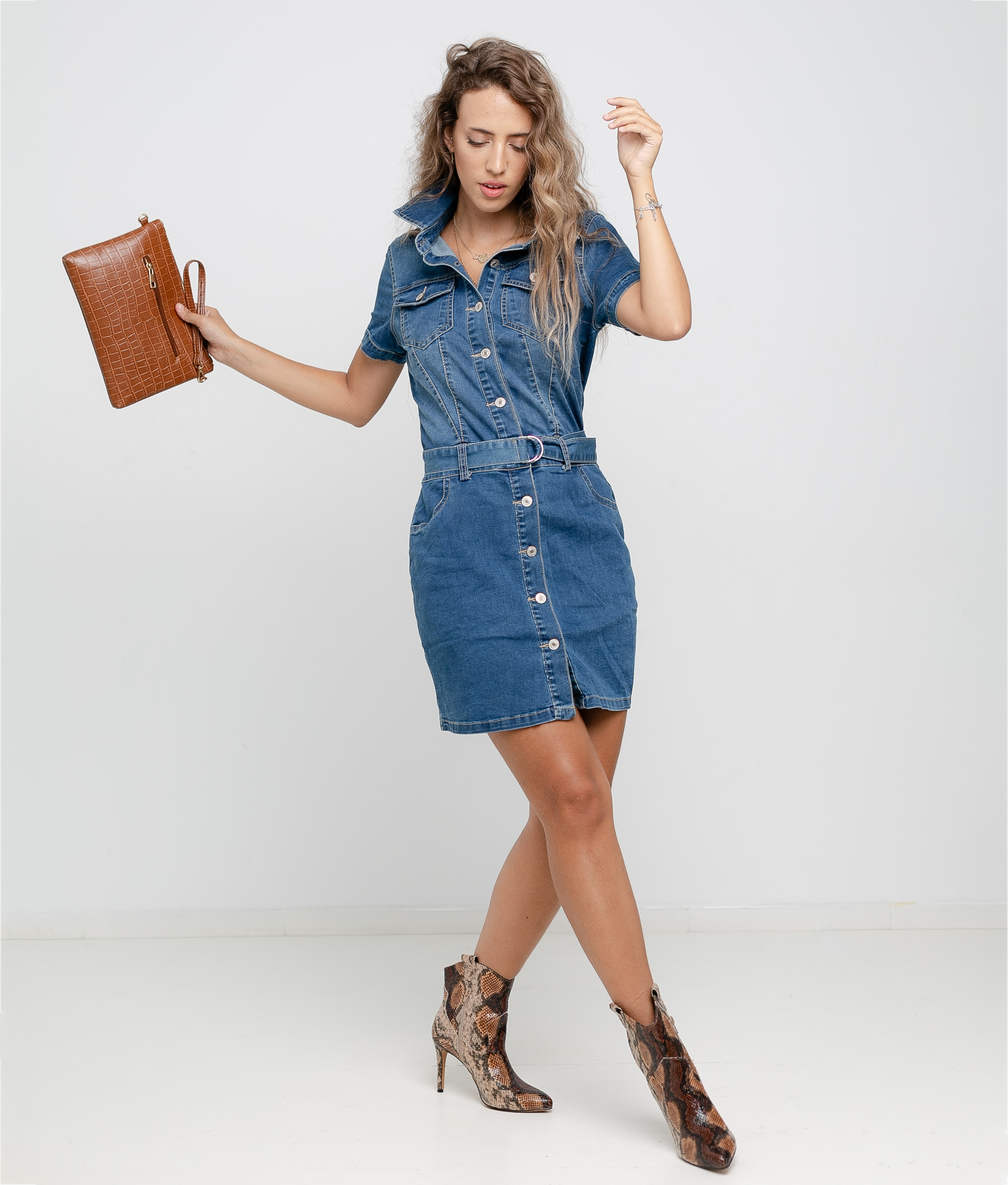 PROTES DRESS - DENIM