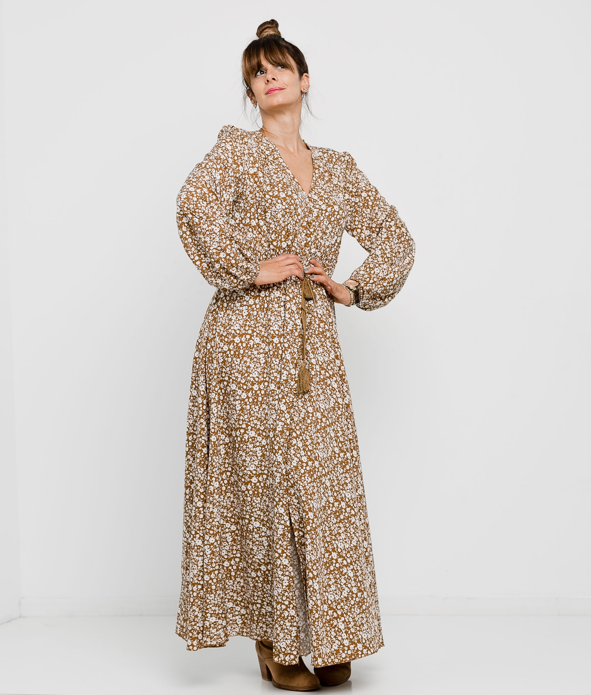 Vestido Nigiri - Camelo