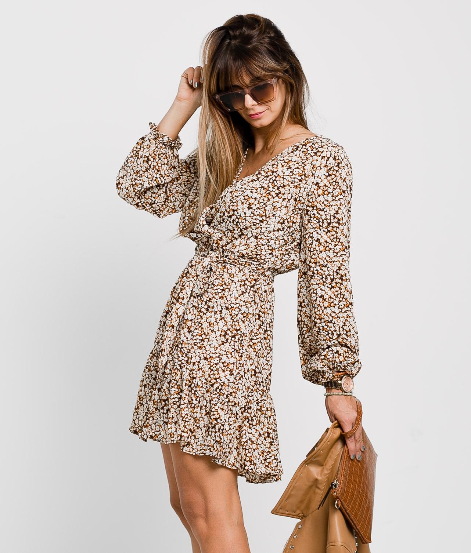 NYMERIA DRESS - BROWN