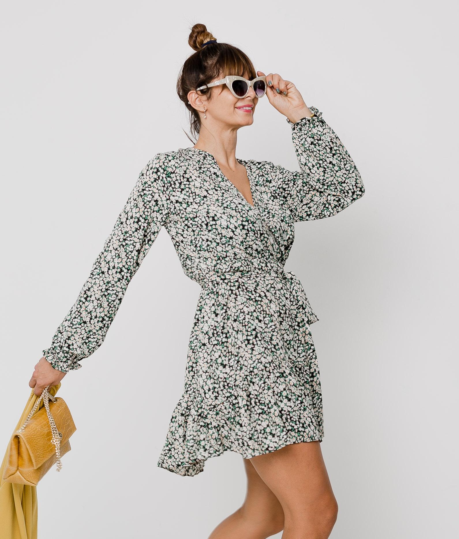 NYMERIA DRESS - GREEN