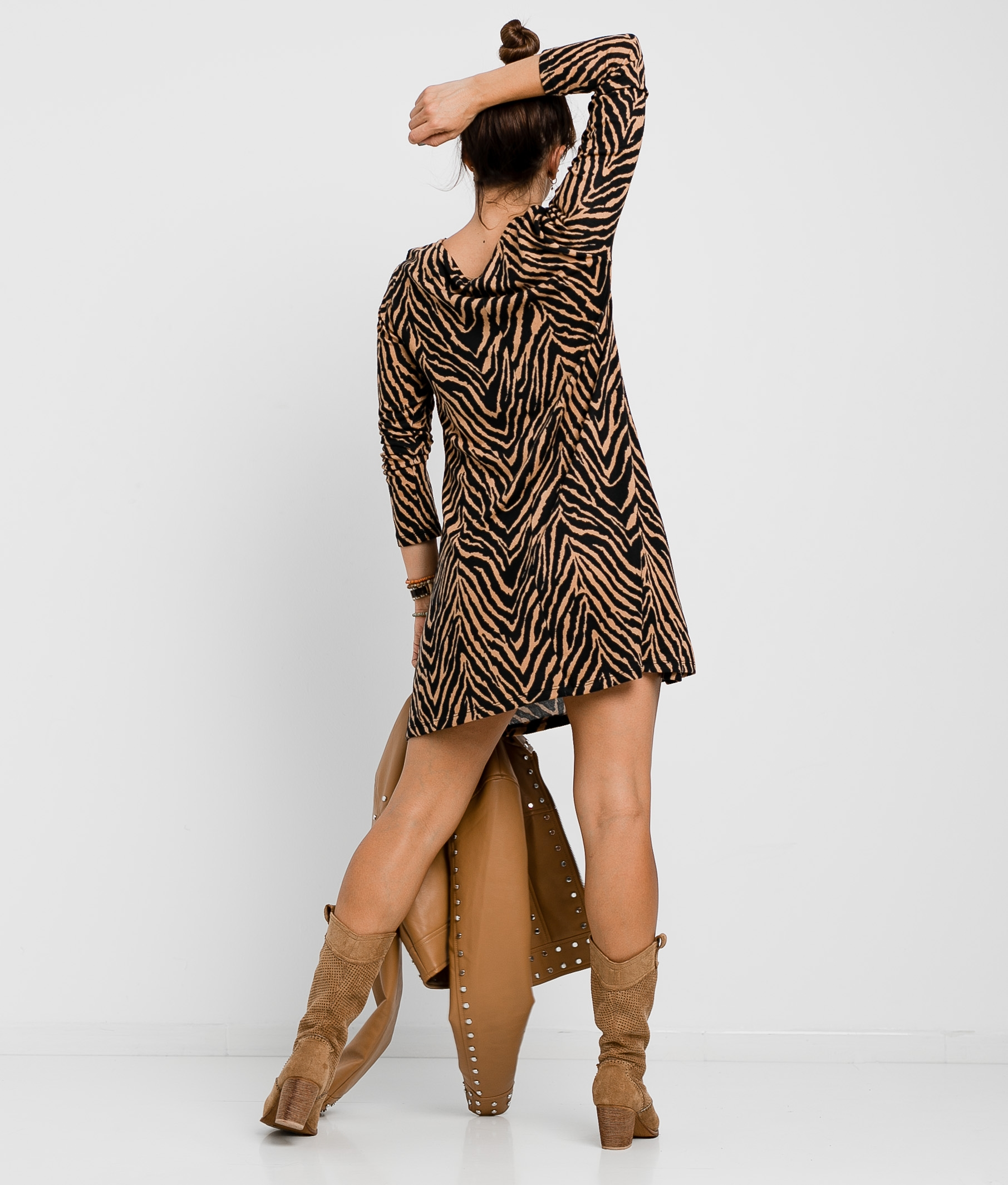 SERSEI DRESS - BROWN