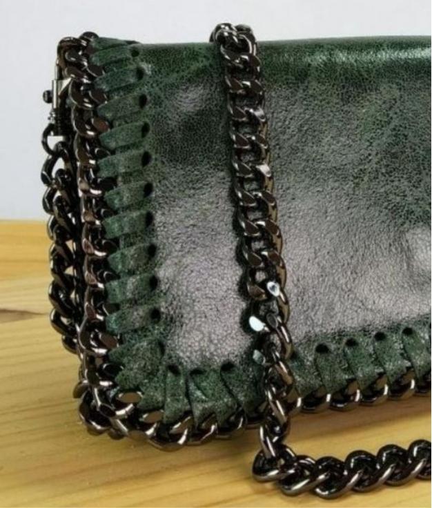 Bolso de Piel Fiore - verde botella