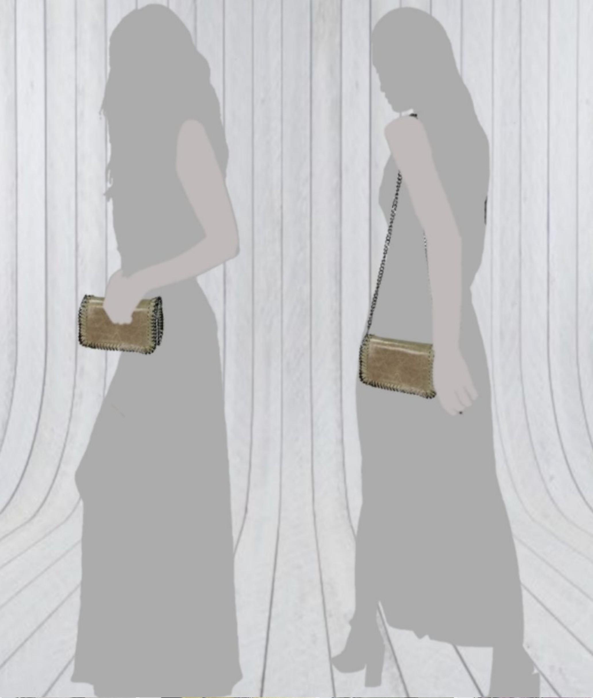 Bolso de Piel Fiore - grey