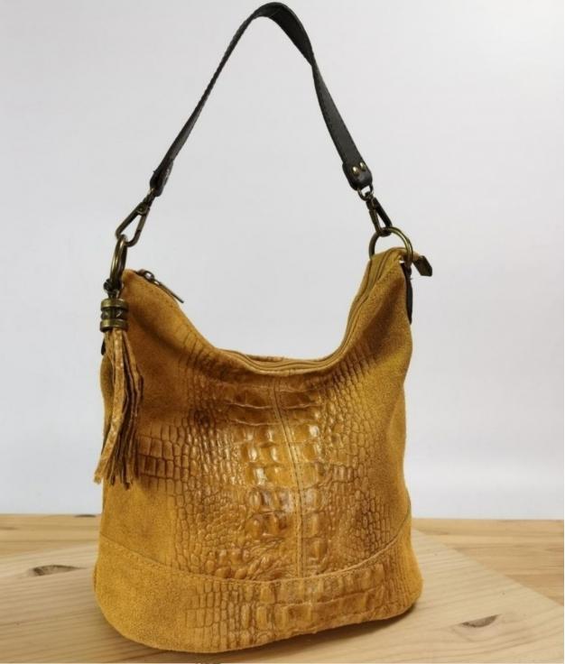 leather Shoulder bag Pace - mustard