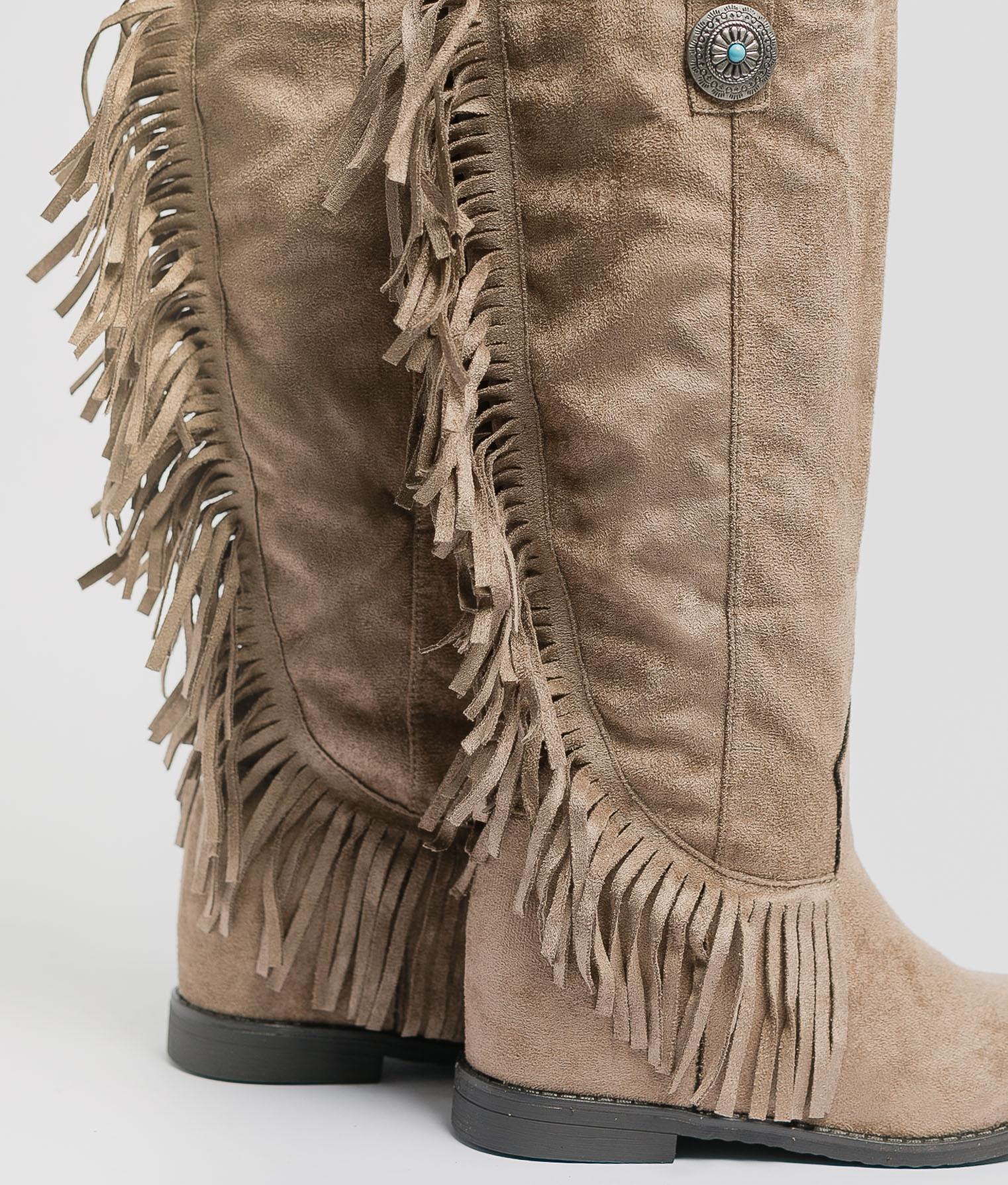Knee-Length Boot Koari - Khaki