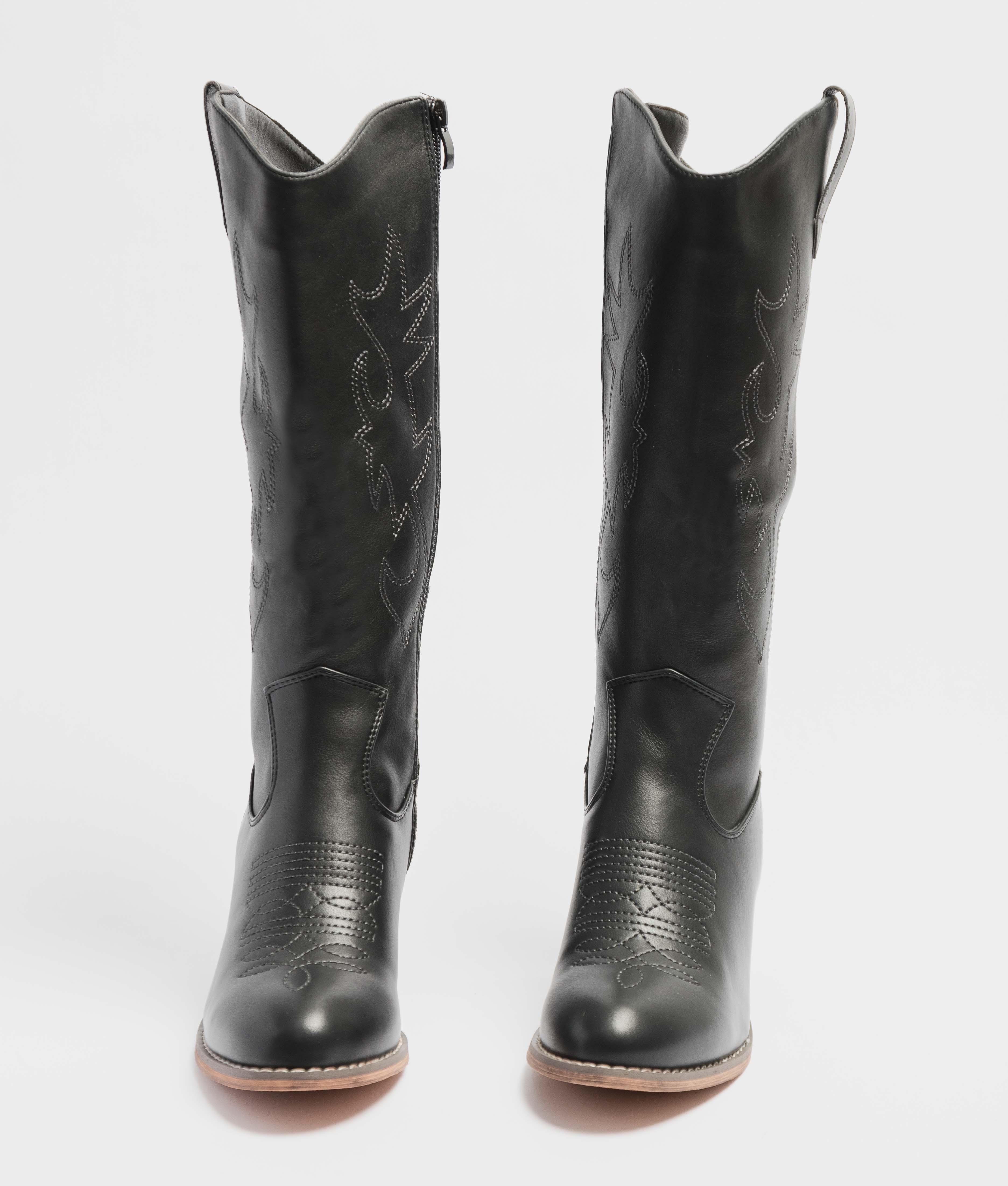 Knee-Length Boot Yvelin - Black