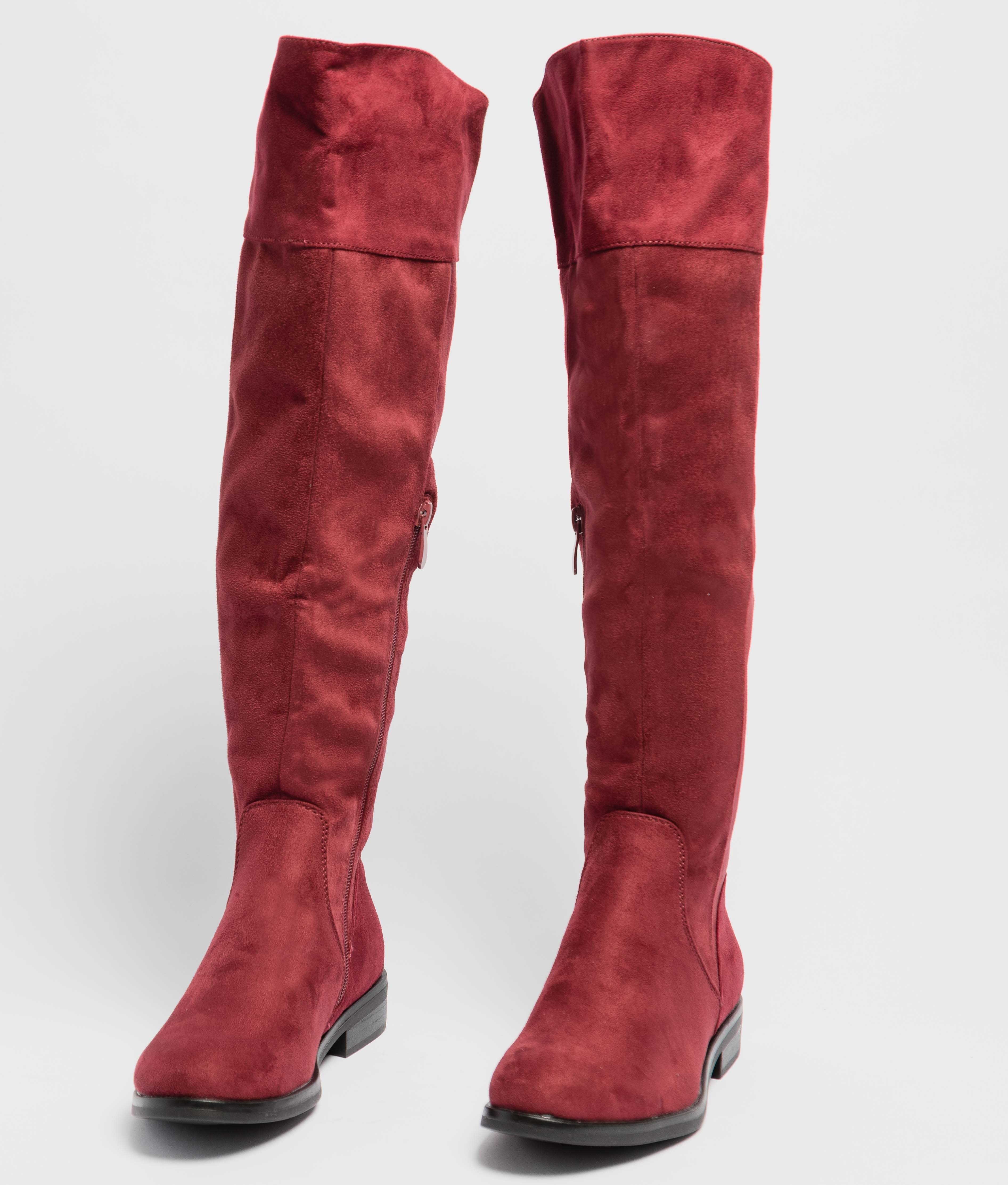 Knee-length Boot Chalen - Maroon
