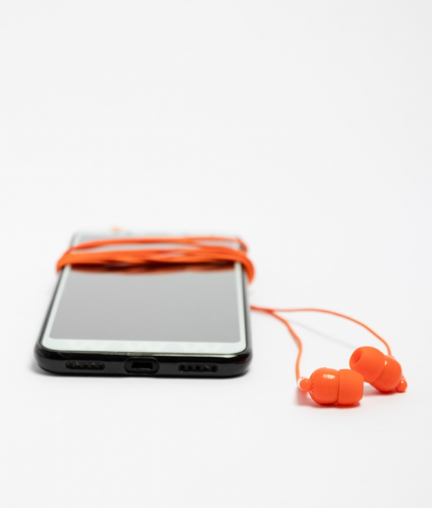 Auriculares Punk - Naranja