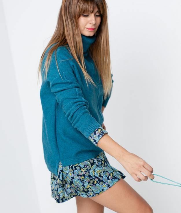 Sweater Jubo - Turquoise