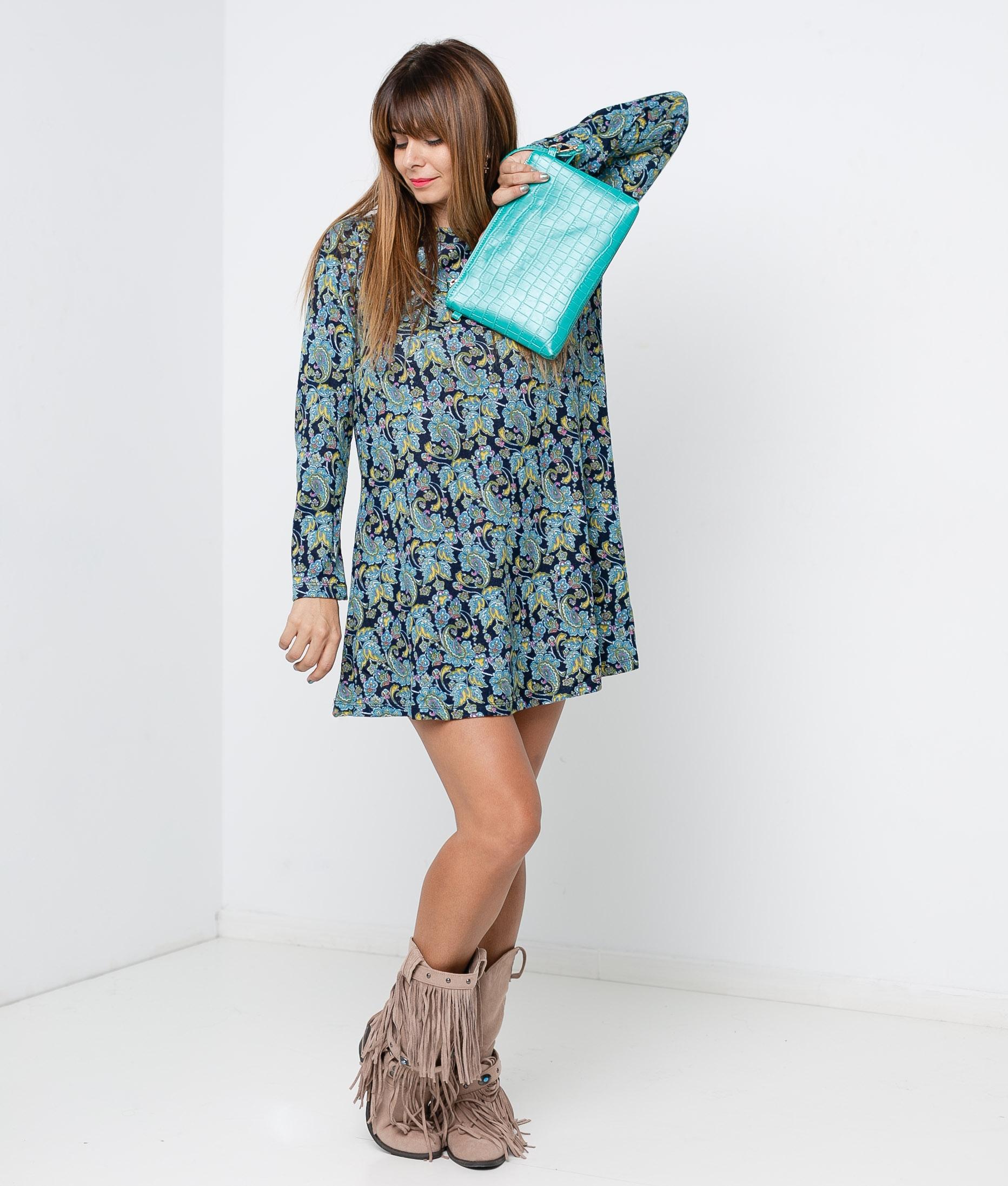 FILIN DRESS - BLUE