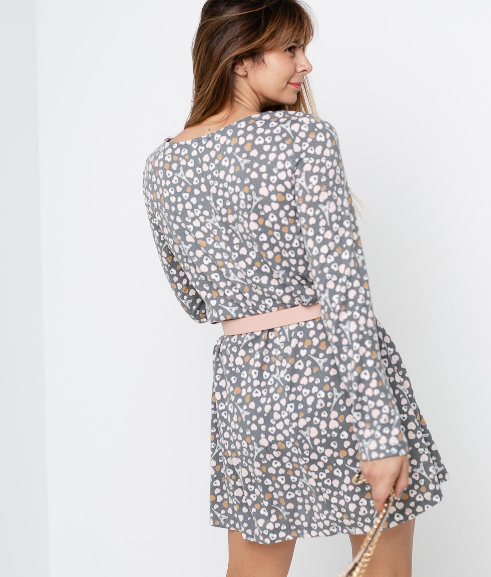 DRESS DIORA - GREY