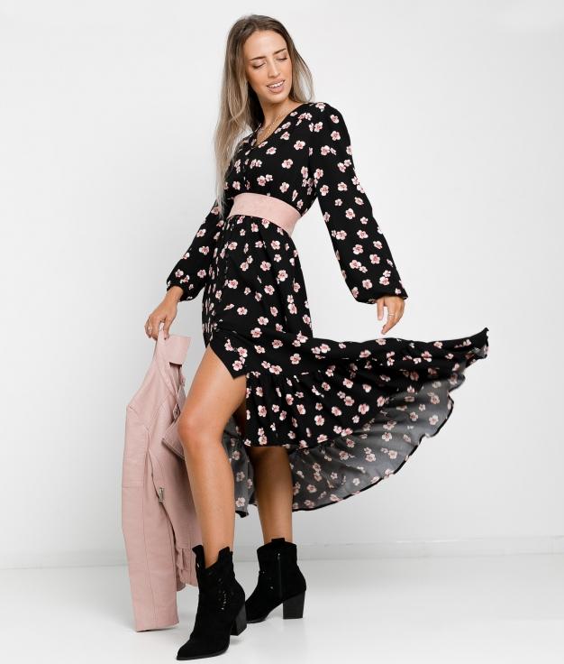 DRESS ROSAL - BLACK