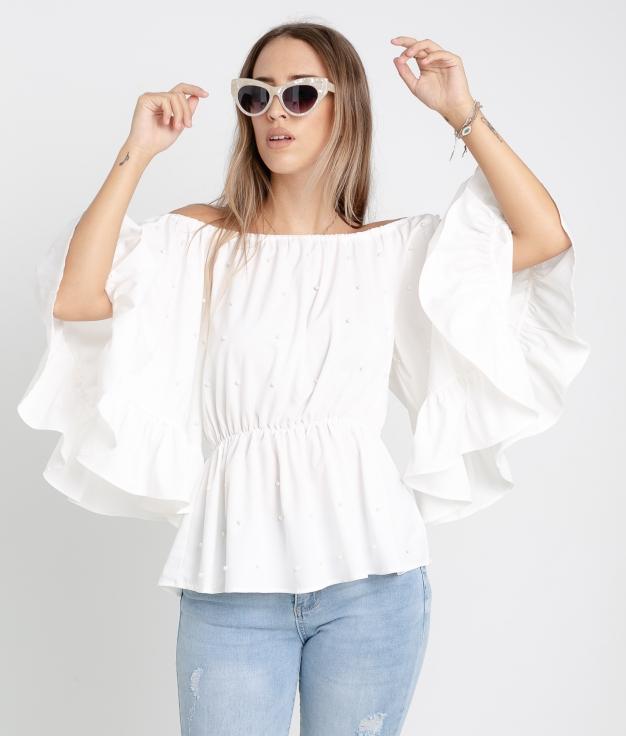 Blusa Perlani - BLANC