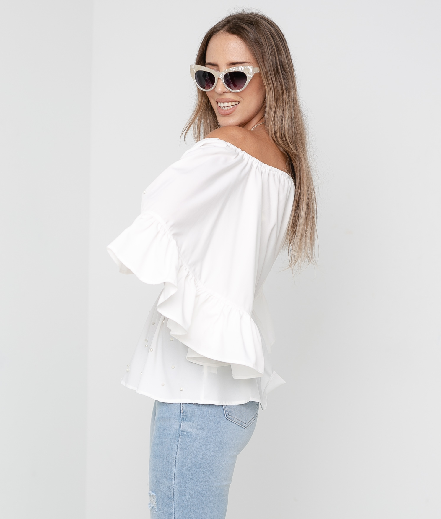 Blusa Perlani - WHITE