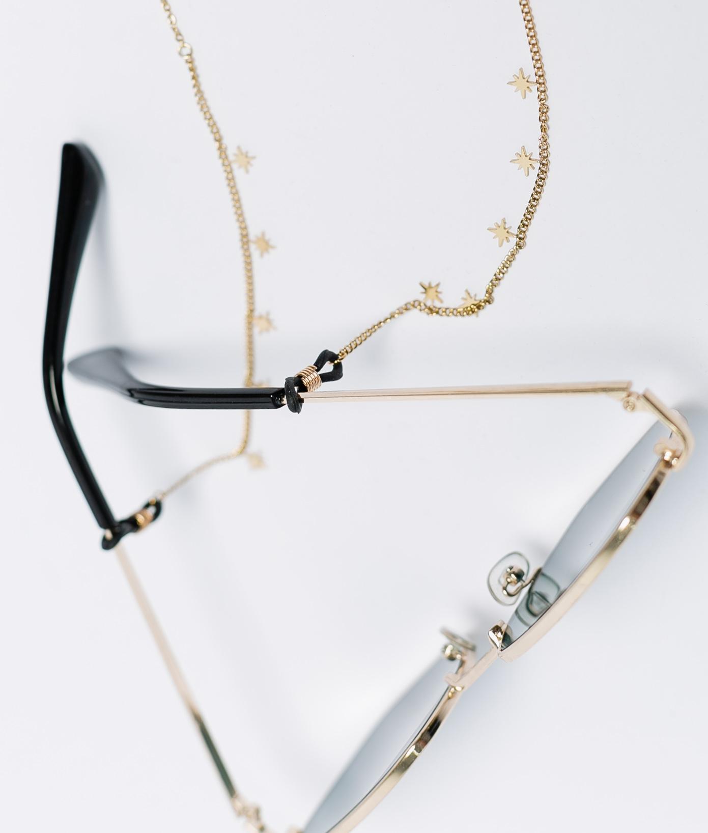 Colgante Gafas Estrellas - Oro