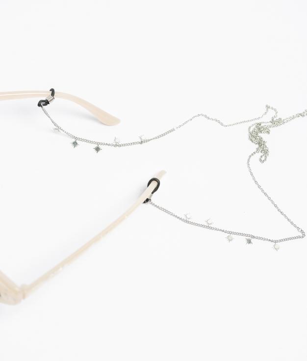 Colgante Gafas Estrellas - Plata