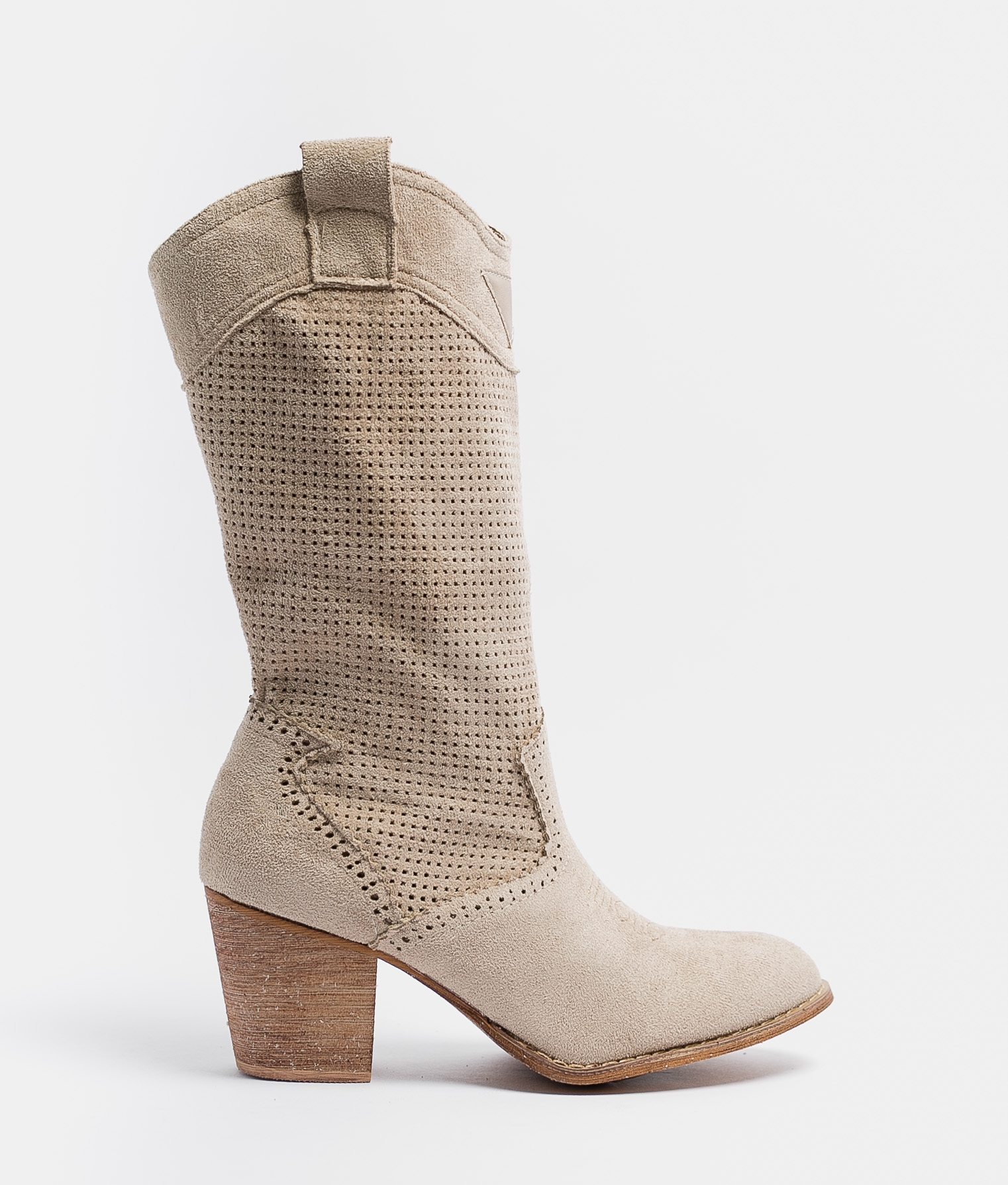 Knee-length Boot Ponet - Beige