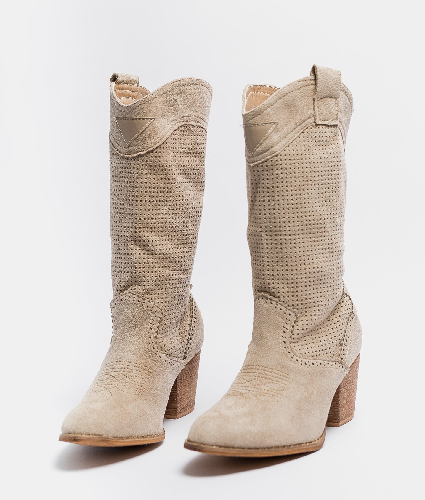 Knee-length Boot Ponet - Beige