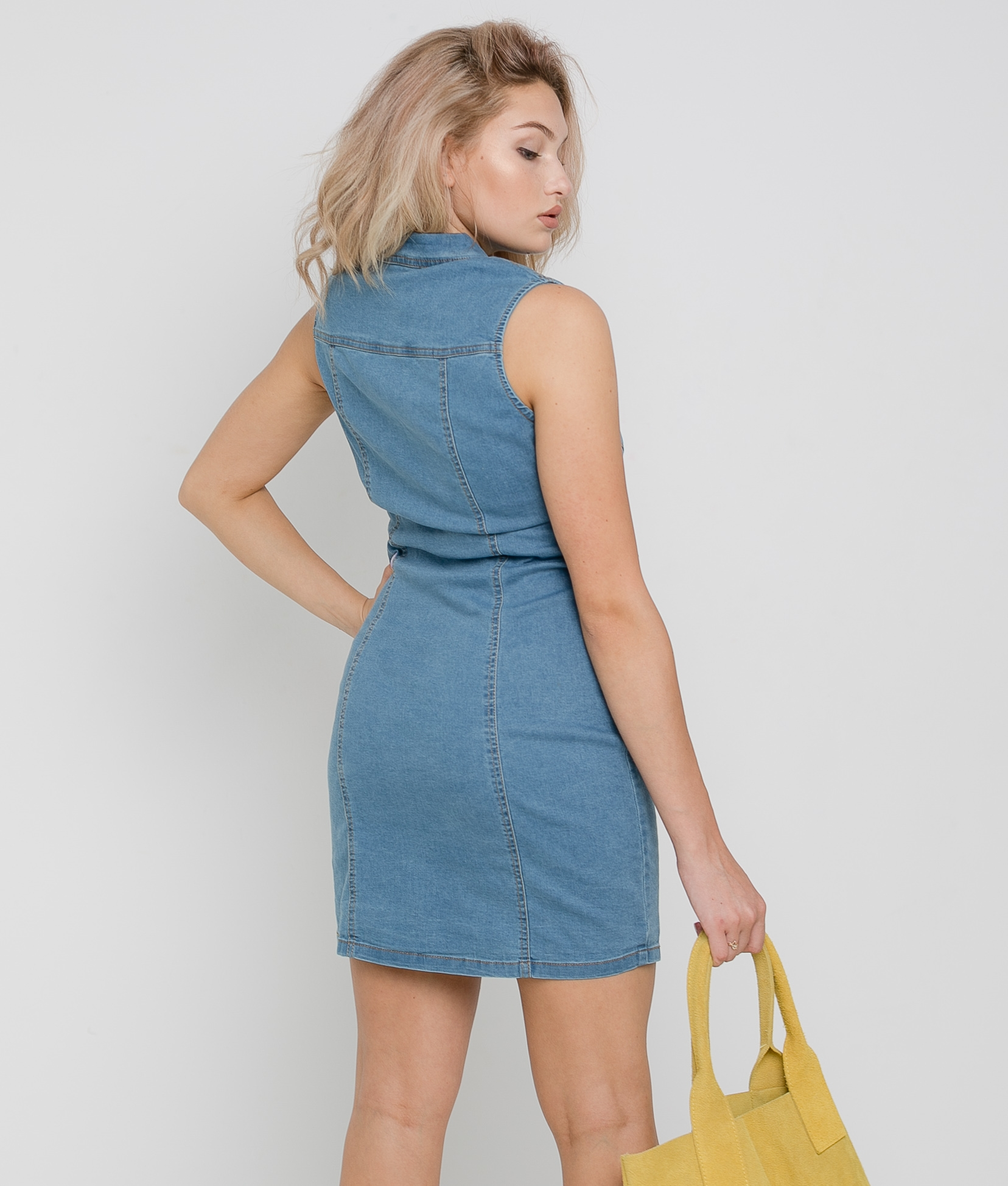 PITULIS DRESS - DENIM