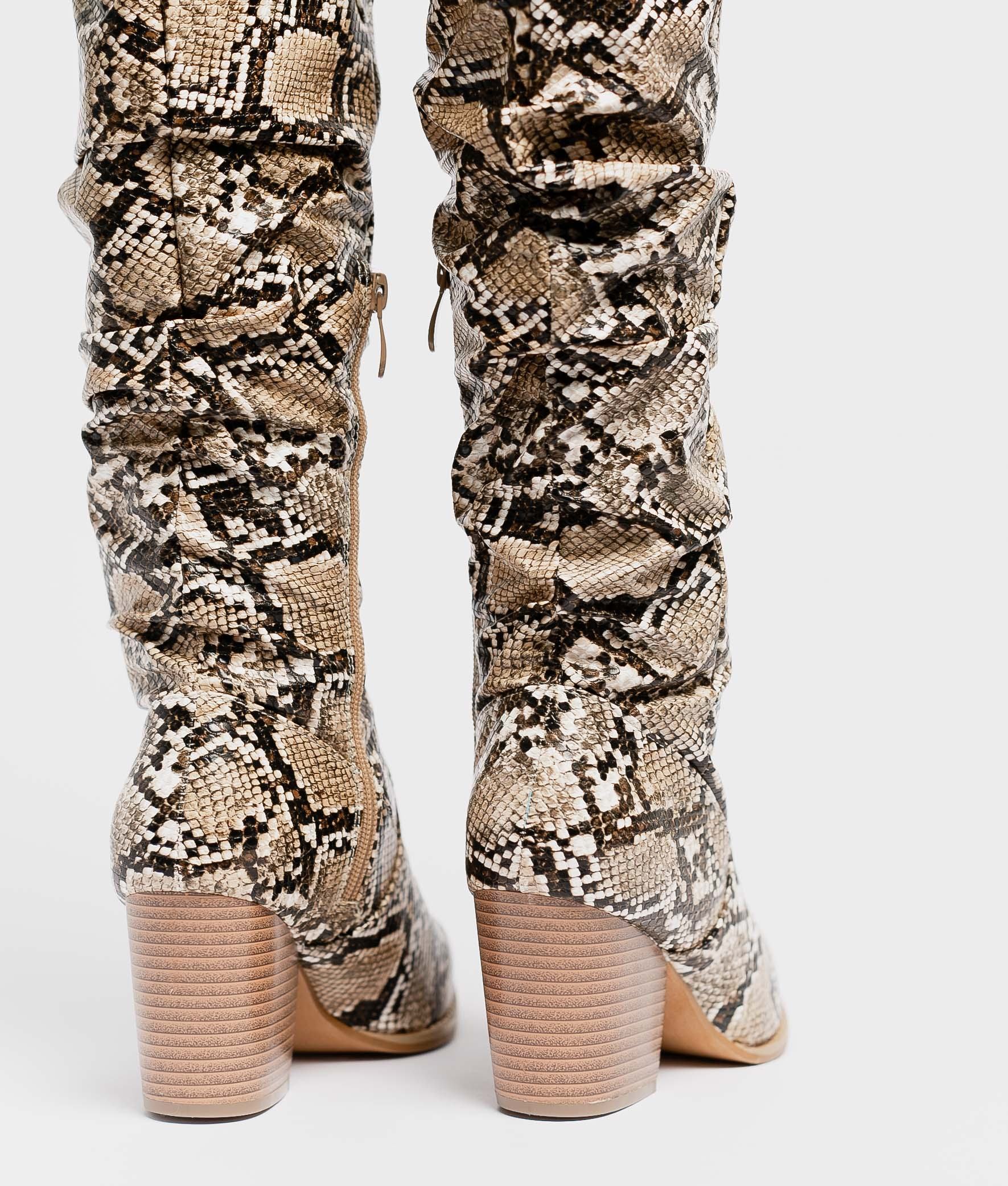 Knee-Lenght Boot Baria - Snake
