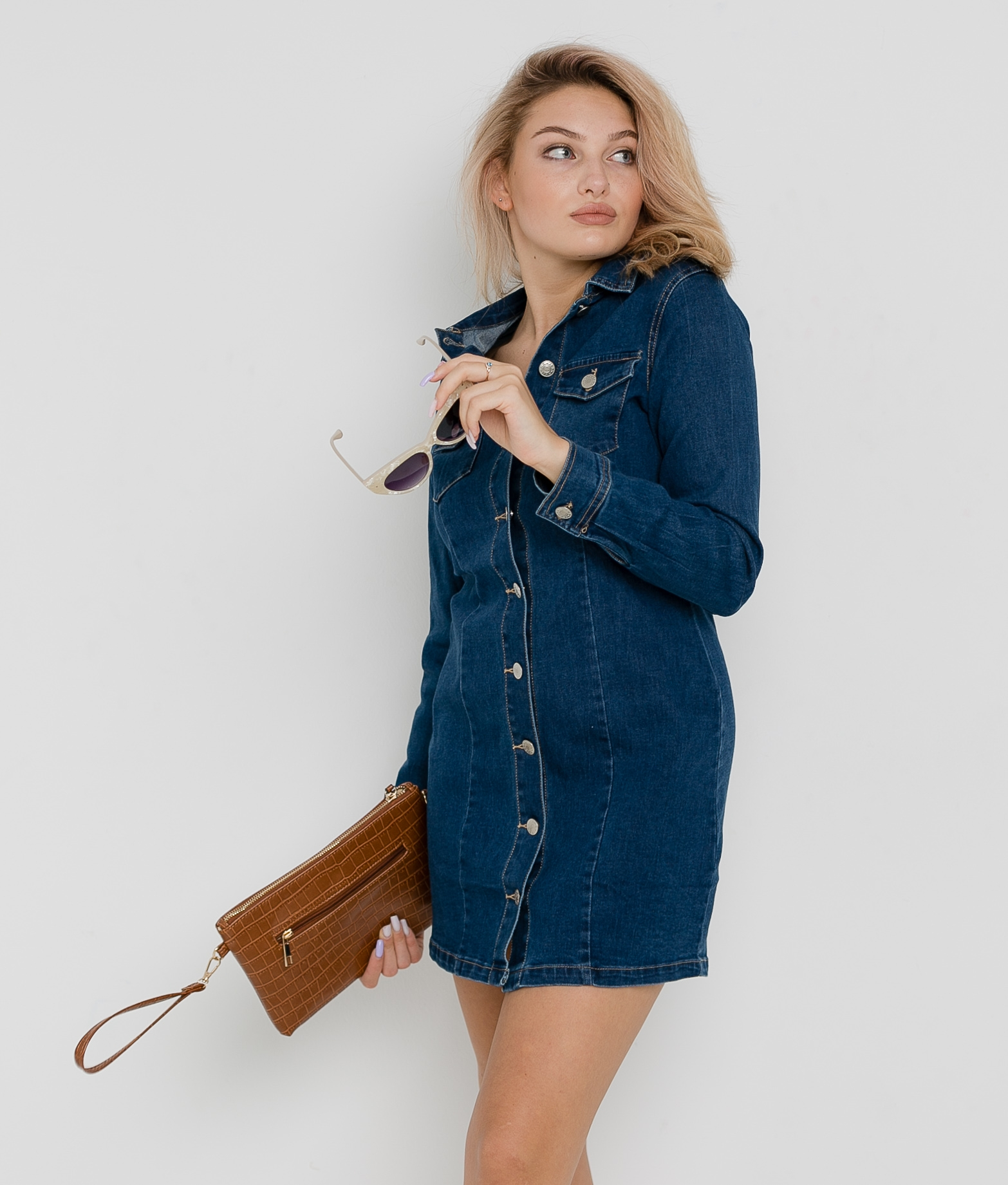 DRESS EOLO - DENIM OSCURO