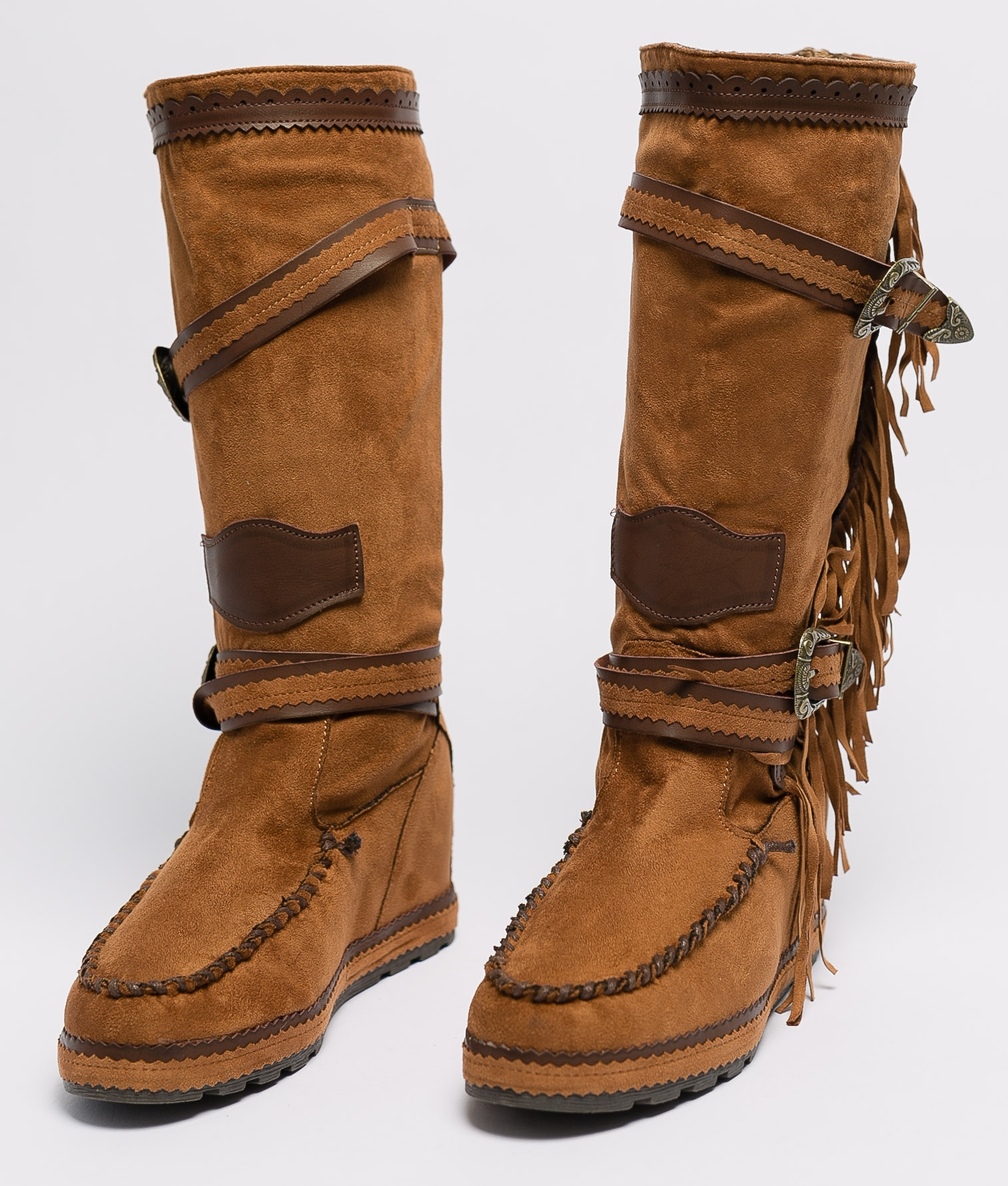 Knee-Length Indianini Boot Menia - Camel