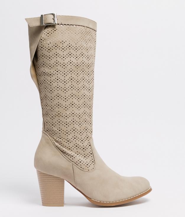 Knee-length Boot Elister - Beige