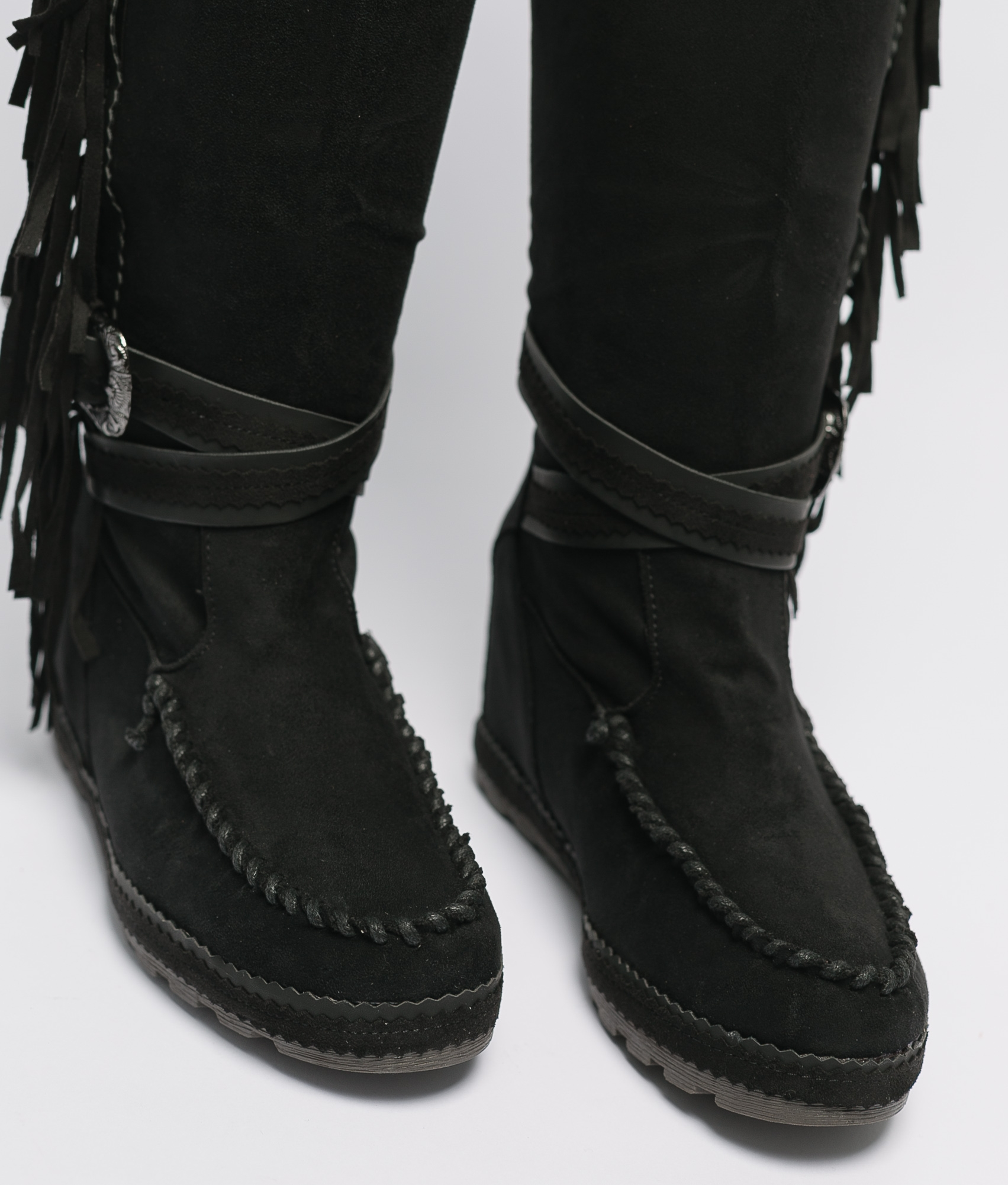 Knee-Length Indianini Boot Semila - Black