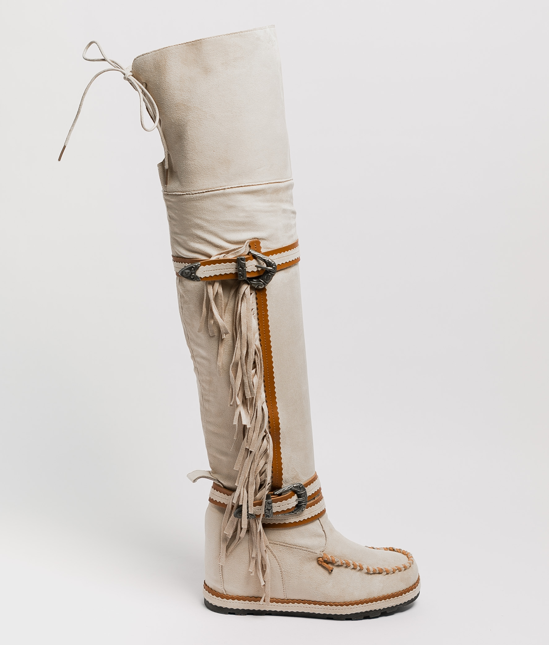 Knee-Length Indianini Boot Semila - Beige