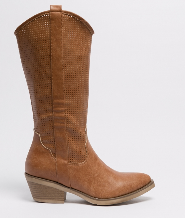 Plesia Knee-Length Boot - Camel