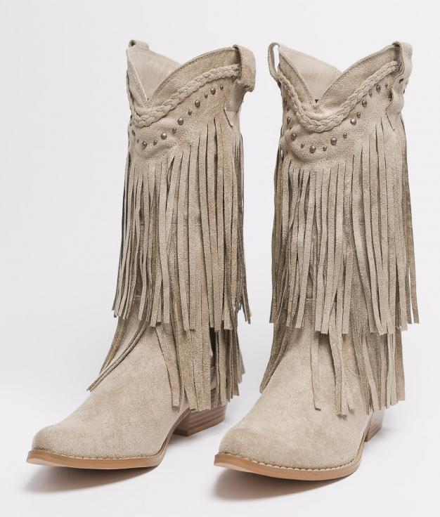 Knee-length Boot Leris - Beige