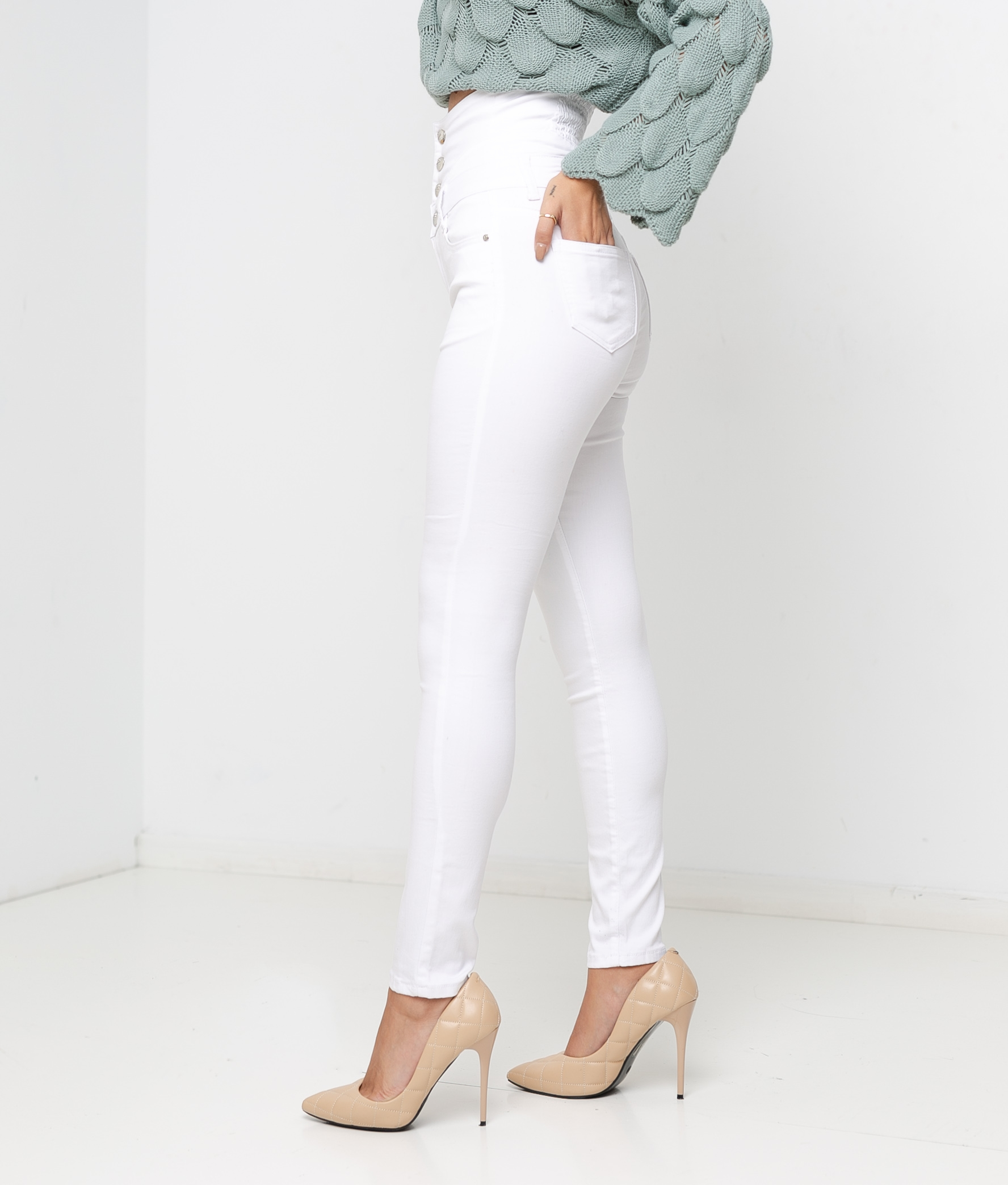 PARLI TROUSERS - WHITE