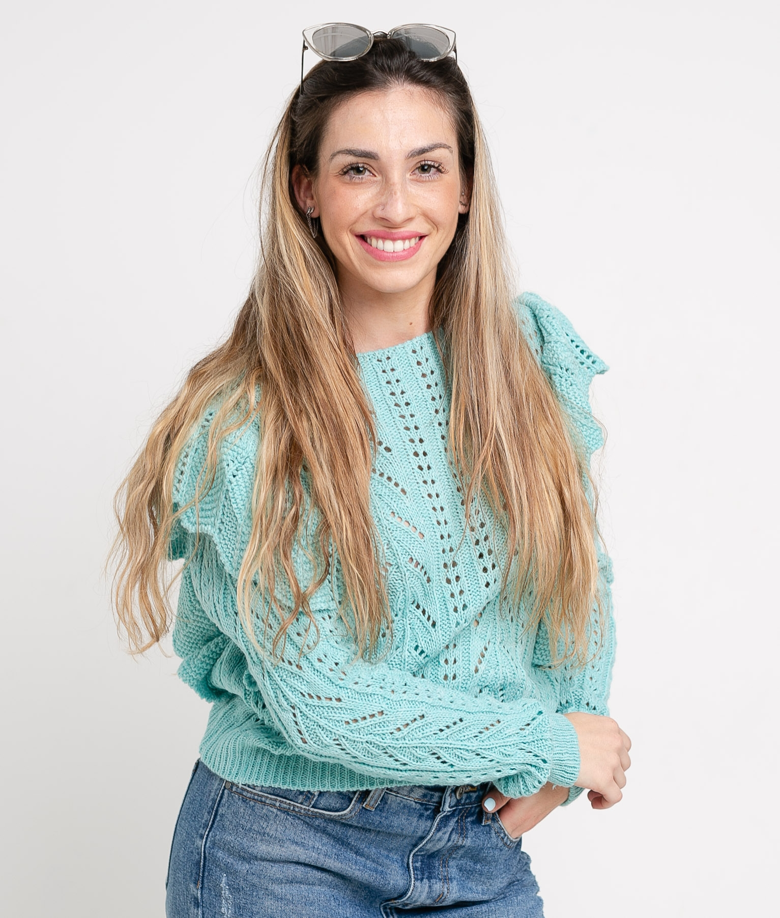 Sweater Jurena - Agua Marina