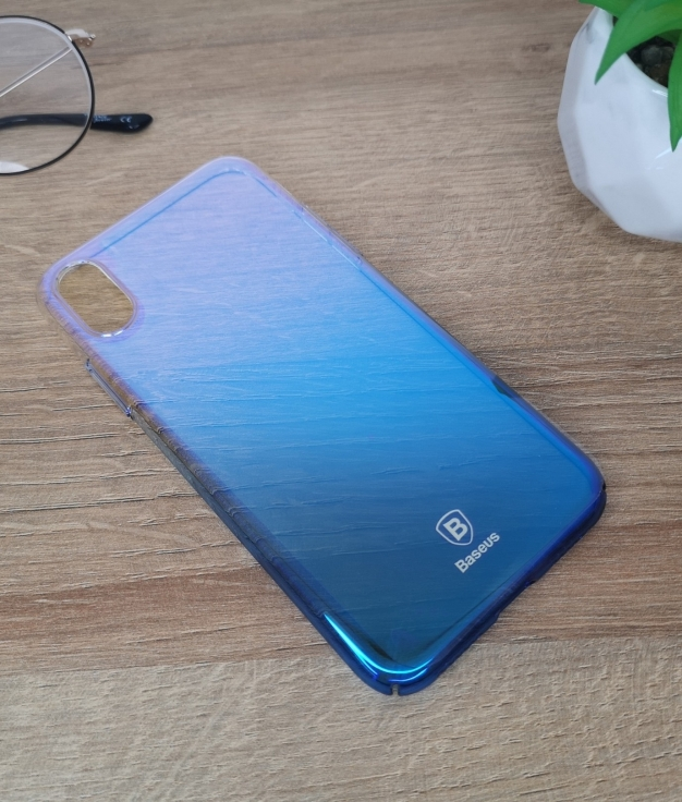 Funda movil iphone x - azul
