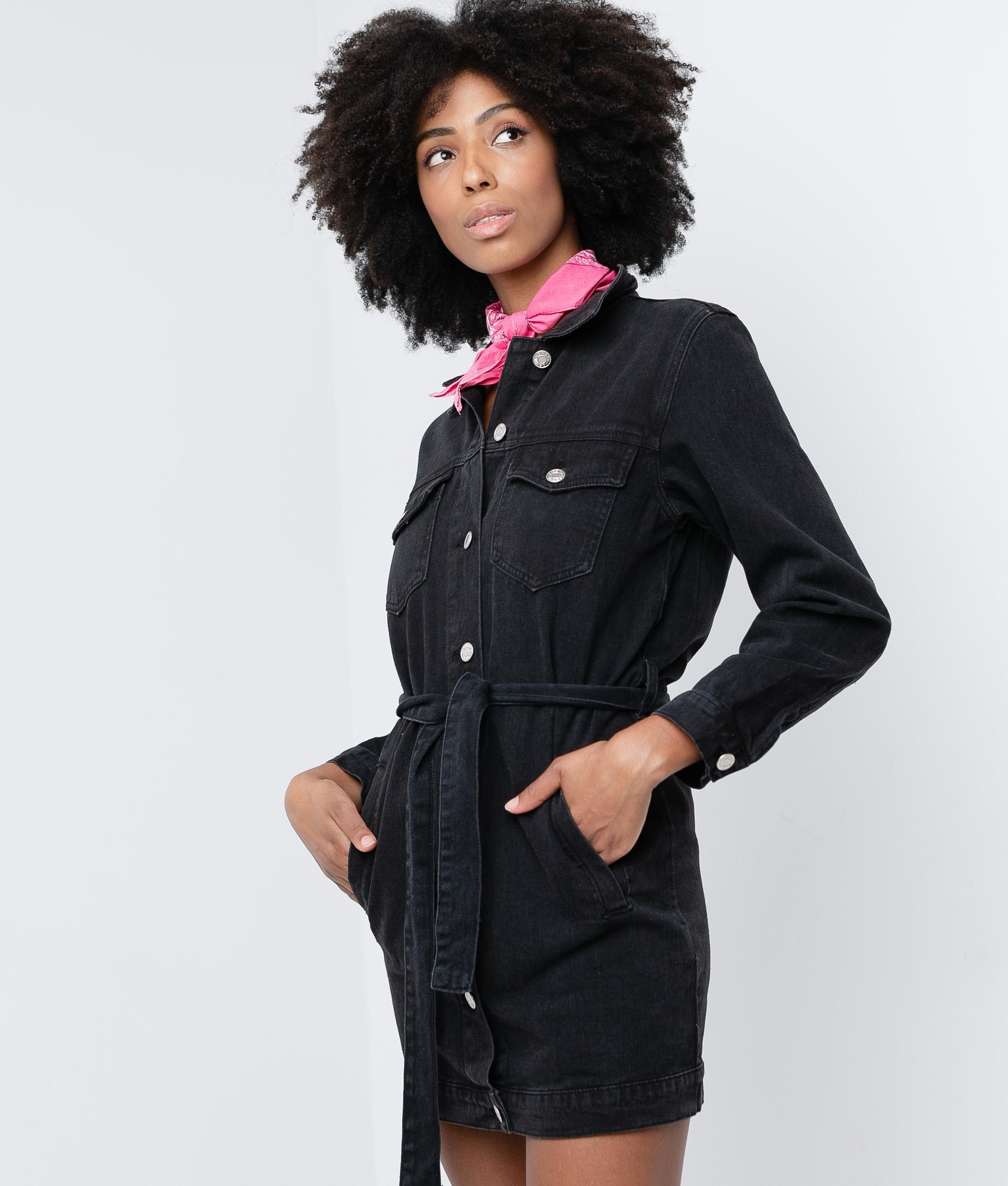 PANGOLI DRESS - BLACK