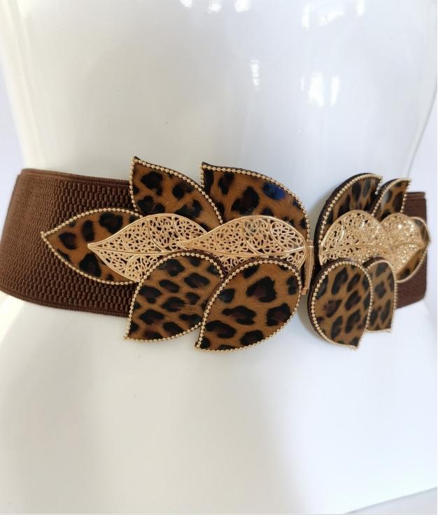 Cinturón elastico Hoja - leopardo