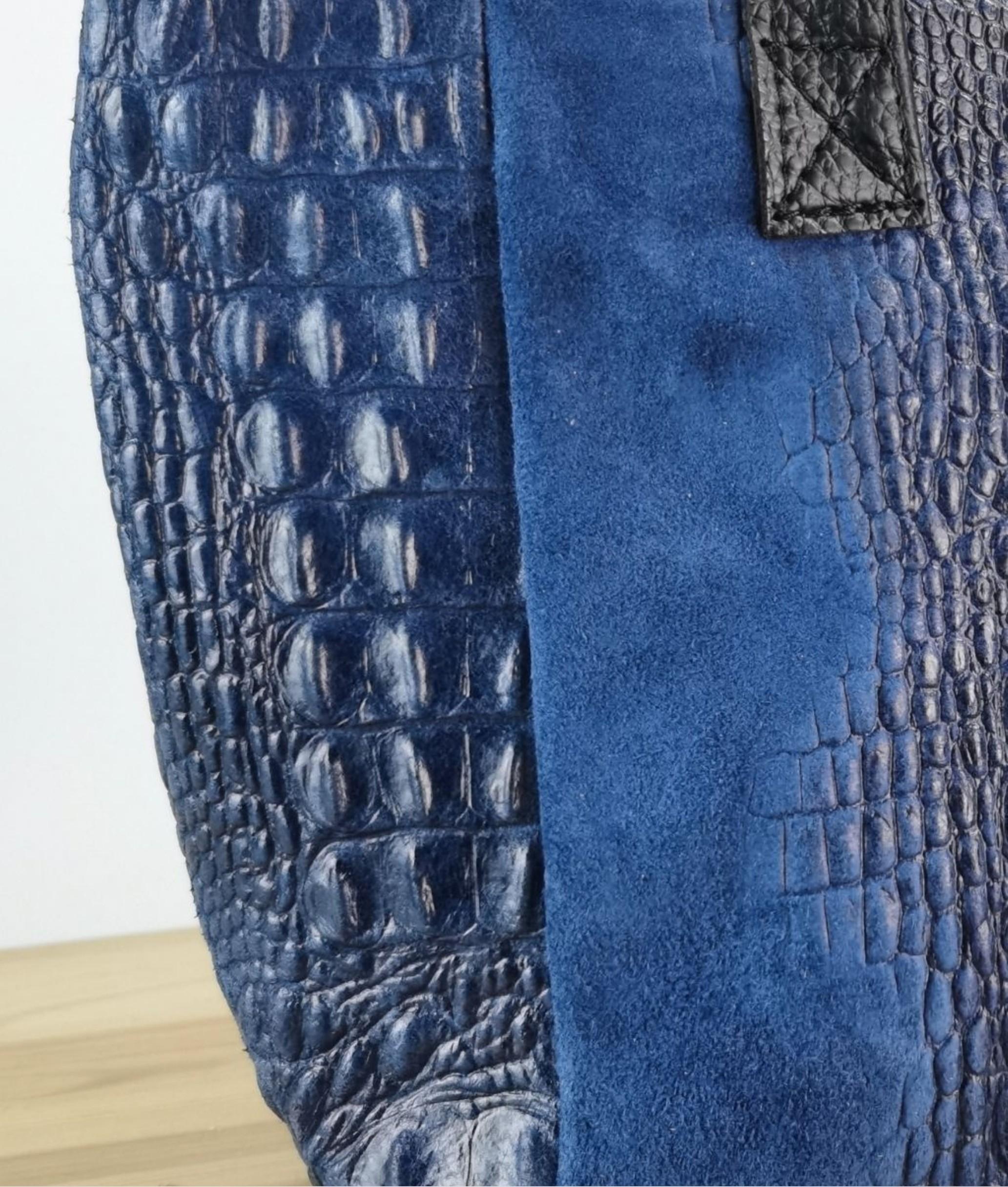 Bolso de piel Tesur - azul marino