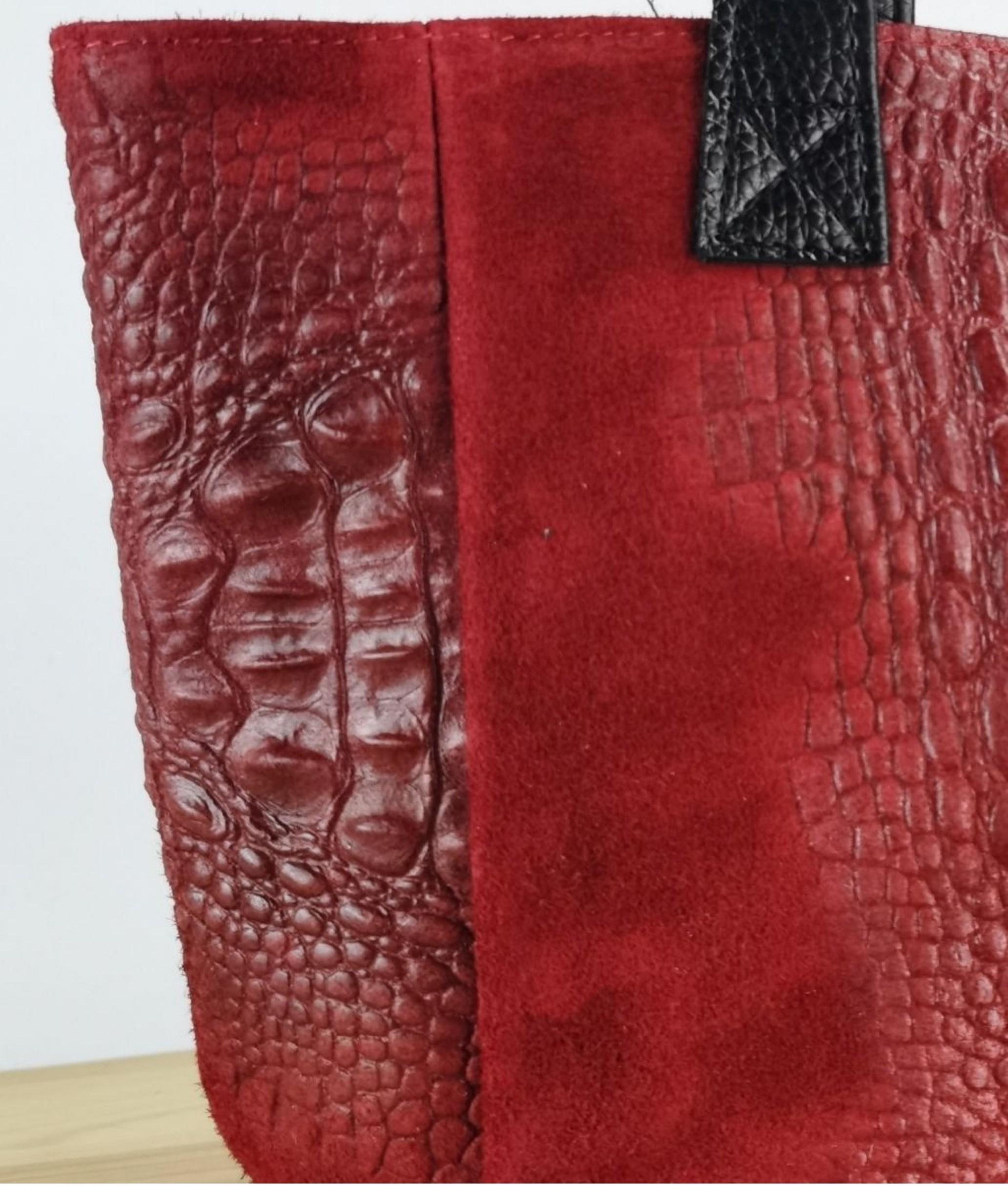 Bolsa de couro Tesur - azul marinho