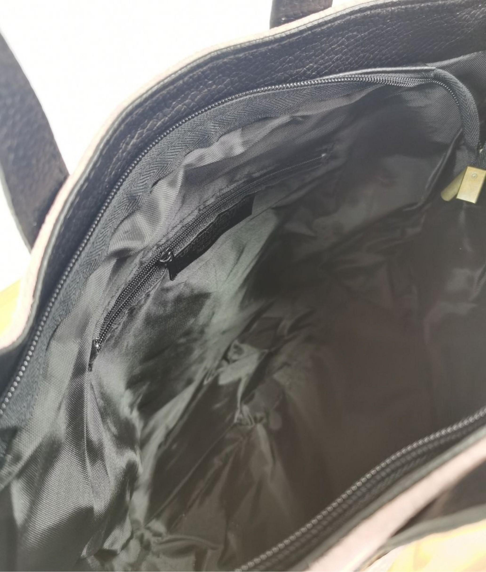 Leather bag Tesur - navy blue
