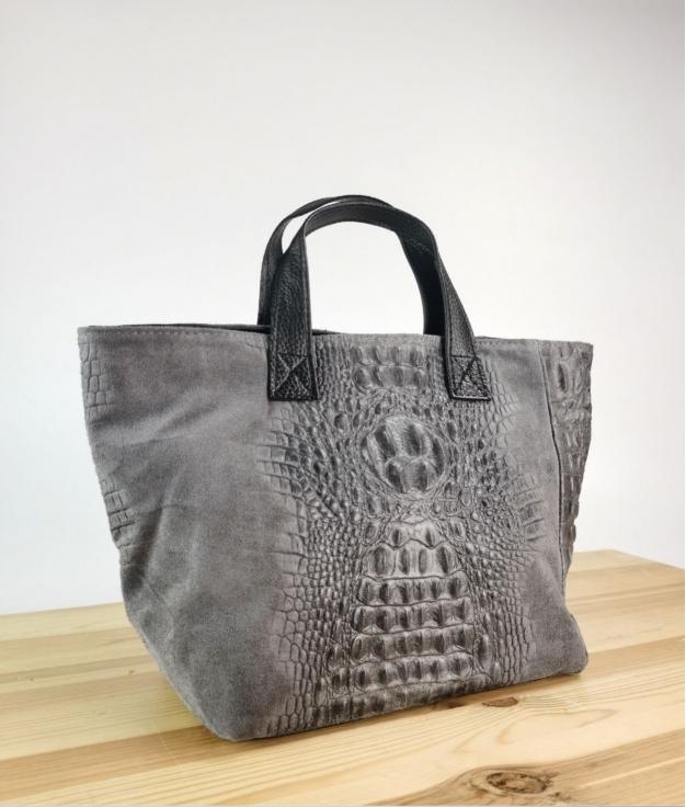 Bolso de piel Tesur - grigio