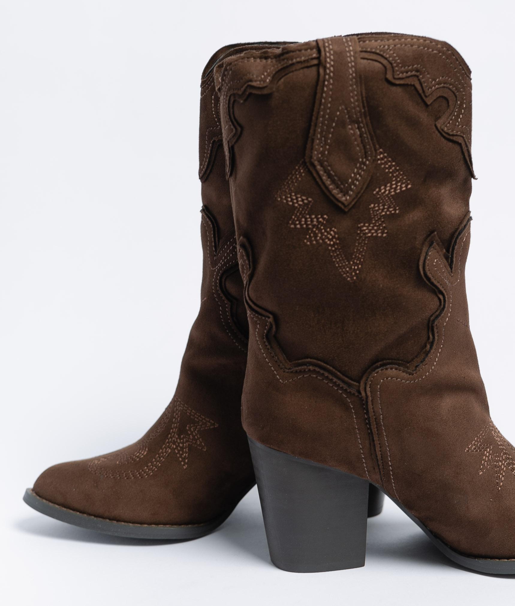 Louda Knee-Length Boot - Coffe