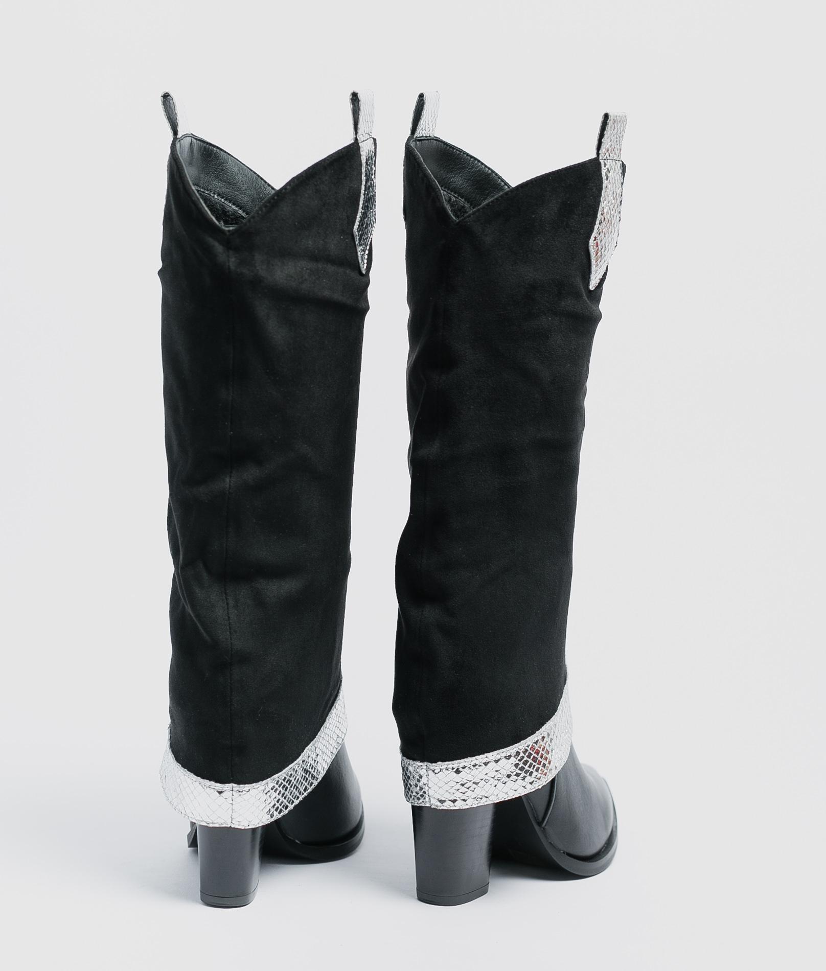 Jaya Knee-Length Boot - Silver