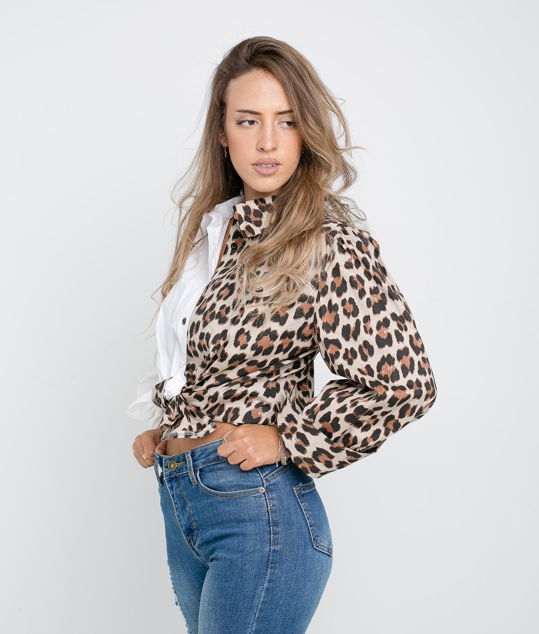 Camisa Bibi- Leopardo