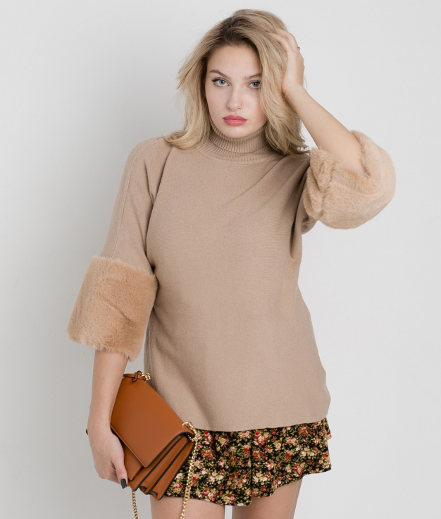 UNAMI SWEATER - CAMEL