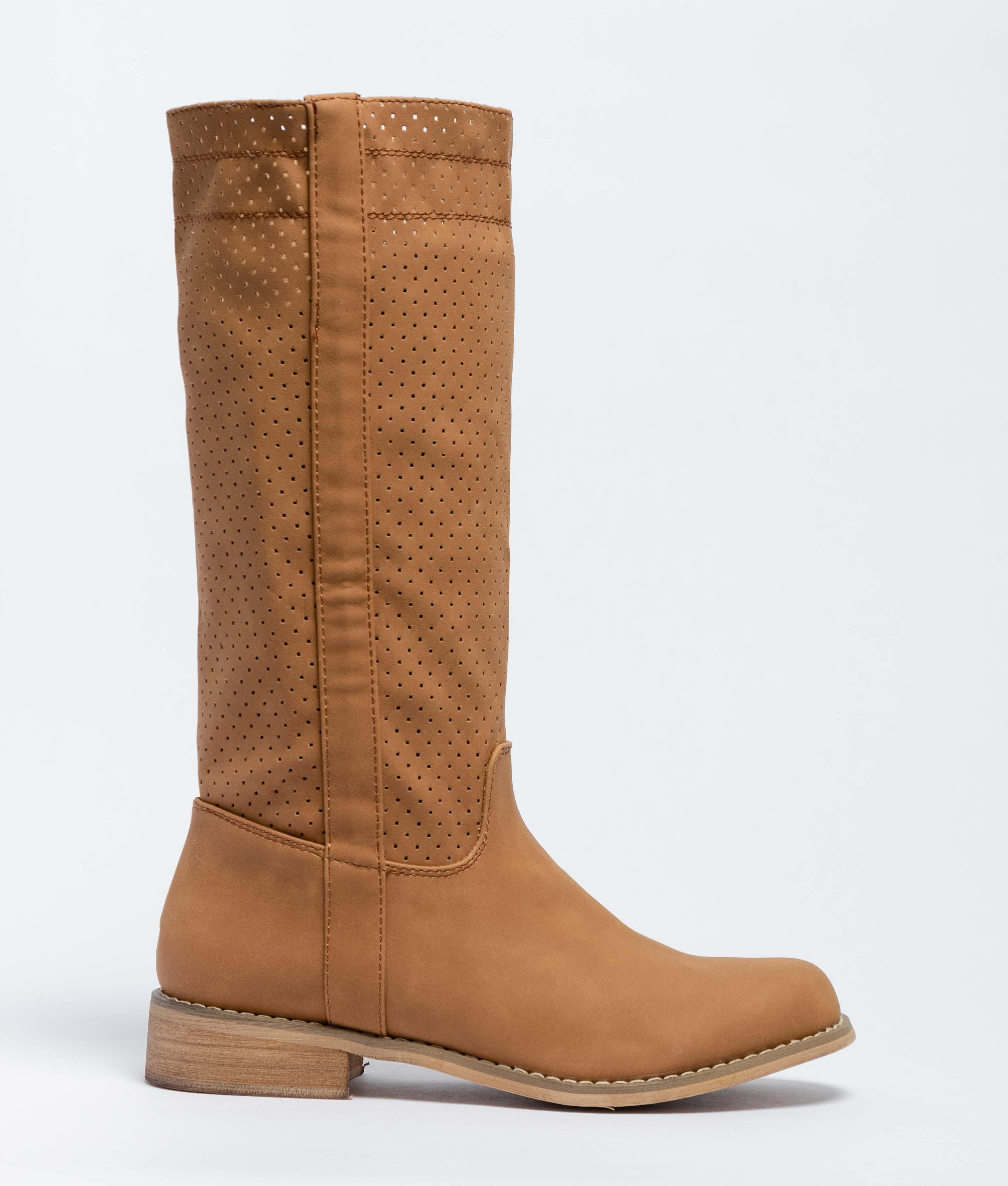 Ximena Knee-Length Boot - Camel