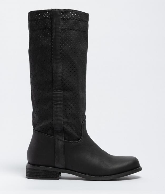 Ximena Knee-Length Boot - Black