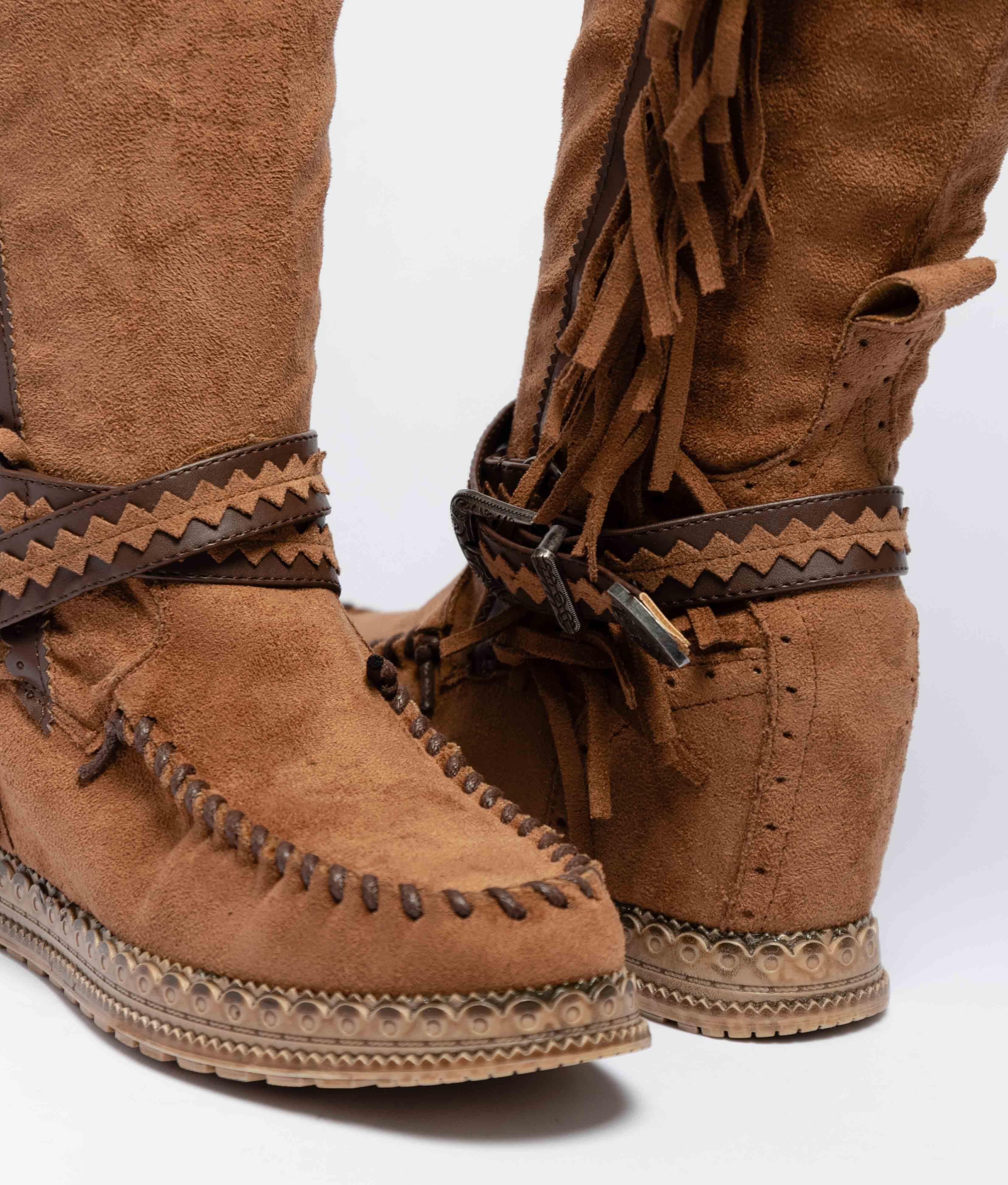 Knee-Length Indianini Boot Mirena - Camel